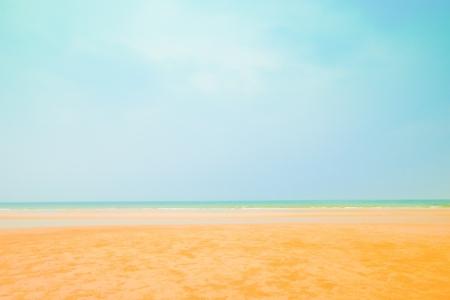 blue sky at hua-hin beach ,Thailand