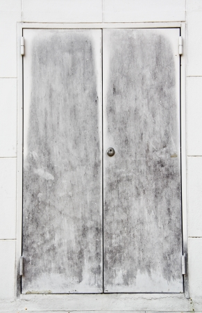 old steel door Stock Photo
