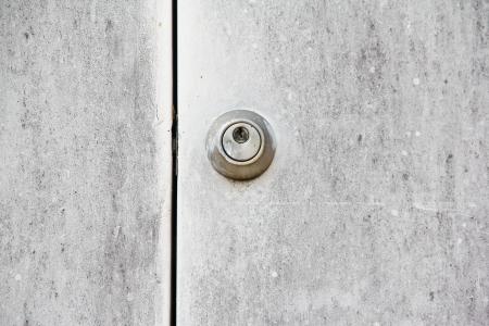 padlock on old steel door Stock Photo - 18575996