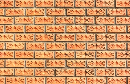 Background of  Old weathered brick wall fragment texture Stock Photo - 18870935