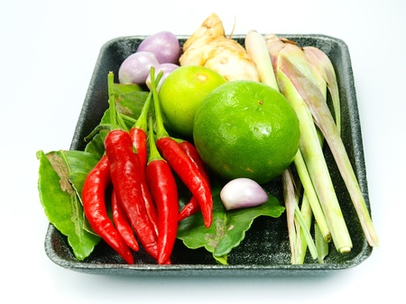 ingredients group of Tomyum Thai food  Stock Photo
