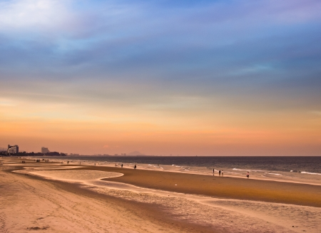 sunrise at the sea  At  Hua Hin beach Thailand