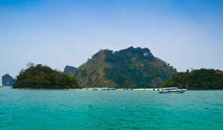Tropical beach,Phi-Phi island,Krabi,Thailand photo