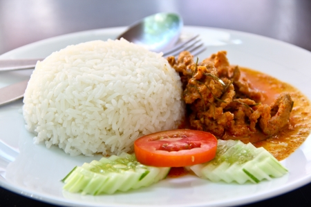 Dried red  coconut curry with pork  Panaeng    Delicious and famous Thailand food