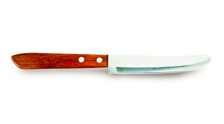 Closeup image of kitchen  knife on white