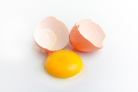 crack egg Stock Photo