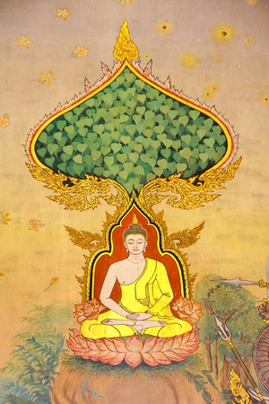 北タイで寺院の門にタイスタイルの絵画が付いている寺院の詳細フォーム装飾。ネイティブのタイ風、これは繁体字、タイで一般的なスタイルです