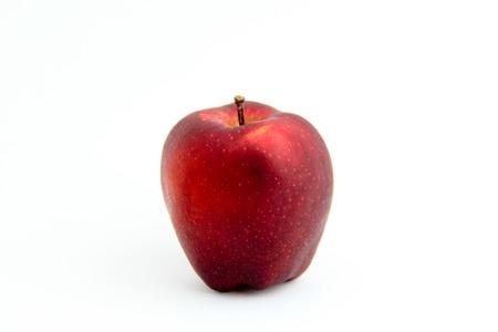 白い背景の赤いリンゴ 写真素材