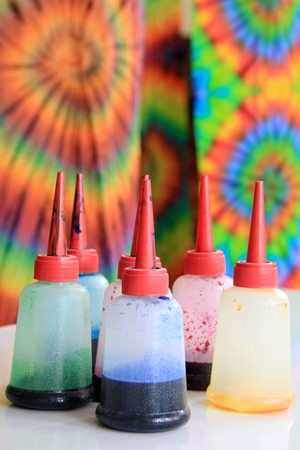 multi cultural: Tie Dye Swirling background pattern Stock Photo