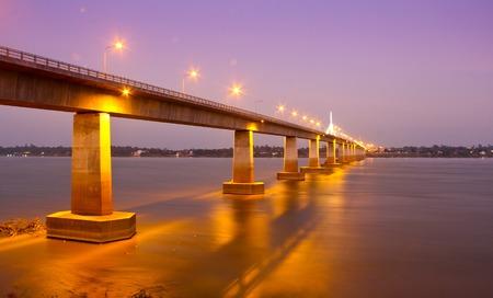 Second Thai�Lao Friendship Bridge,Bridge across the Mekong River. Thai-Lao friendship bridge, Thailand