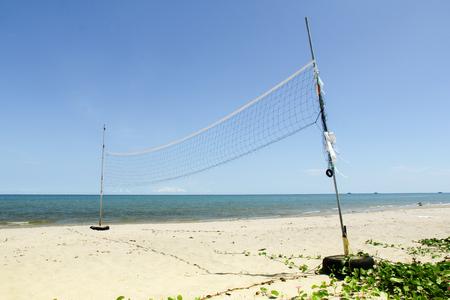 ビーチで純バレーボール