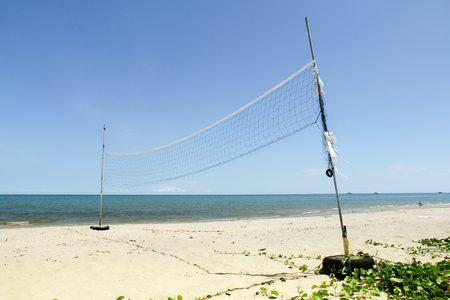 net volleyball on beach