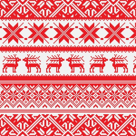 Norway Christmas seamless background Vector