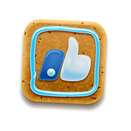 Cookie Like Thumbs Up symbol icon Stock Vector - 17068055