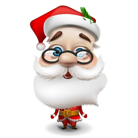 Santa Claus on white background Stock Vector - 17054593
