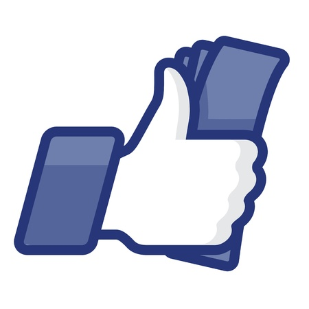 Like Thumbs Up symbol icon with cash Stock Vector - 17068120