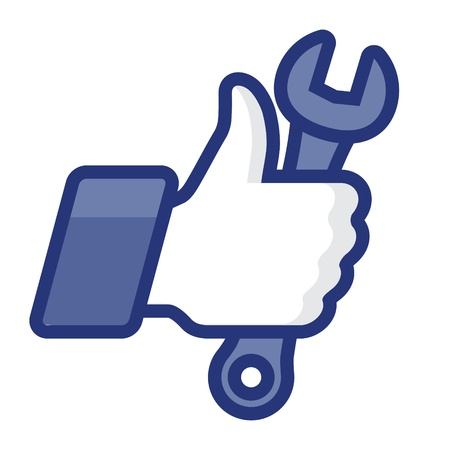 Like Thumbs Up symbol icon with wrench Stock Vector - 17068122