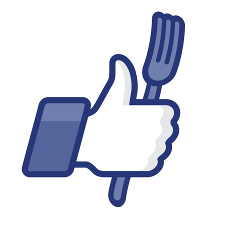 Like Thumbs Up icon with fork Stock Vector - 17068119