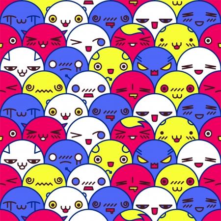 Cute cartoon pattern Vector