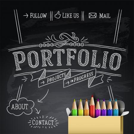 creative background: Web design template Illustration