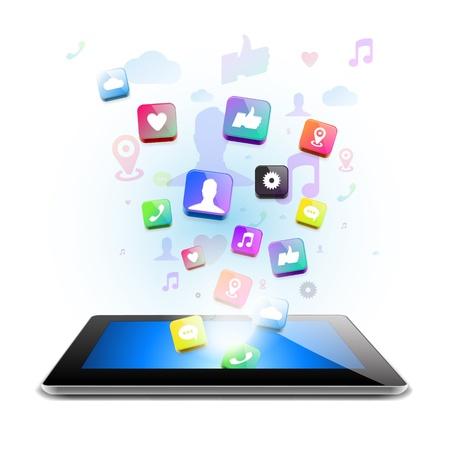 e mail: Social network