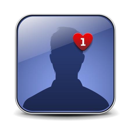 friendship day: User avatar icon