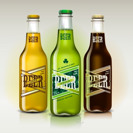 Beer set for St Patrick s Day,  image  Vector
