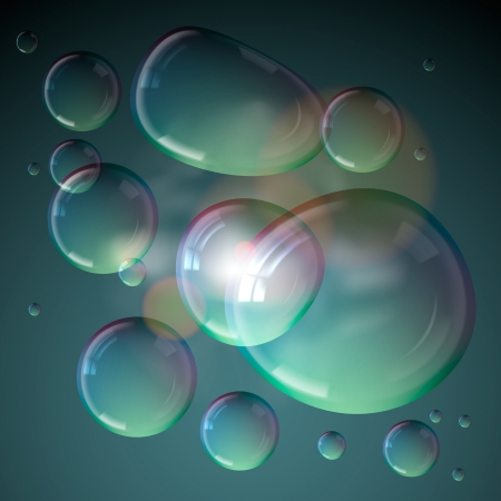 foam bubbles: Soap bubbles isolated on grey background  Illustration