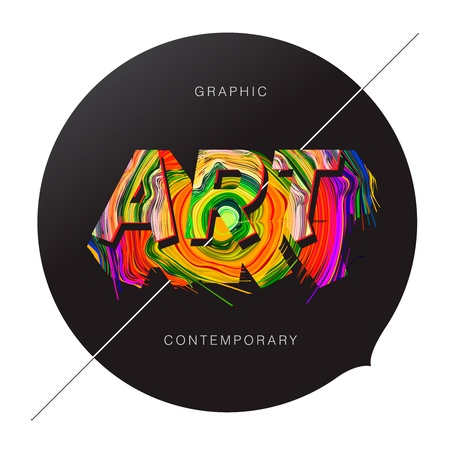 Contemporary Art abstract background Stock Vector - 17712617