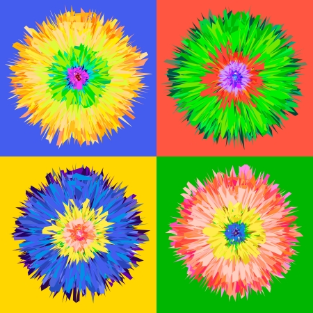 Pop-Art-Blumen Illustration