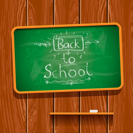 pre school: Back to school, chalkwriting on blackboard