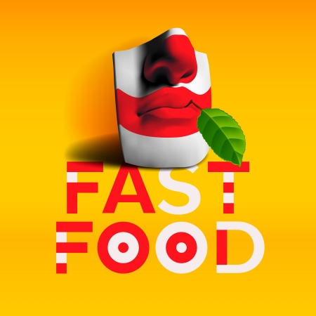 italian culture: Word fast food background