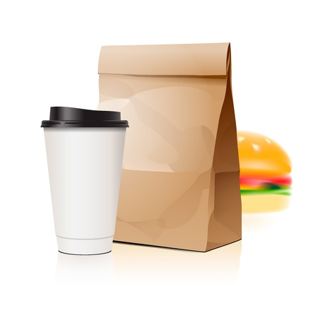 gourmet burger: Pack set with cup and package
