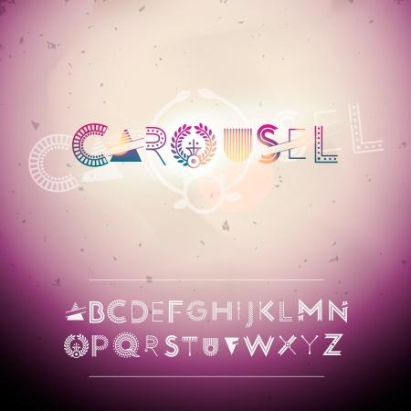 mag: Alphabet Swirly