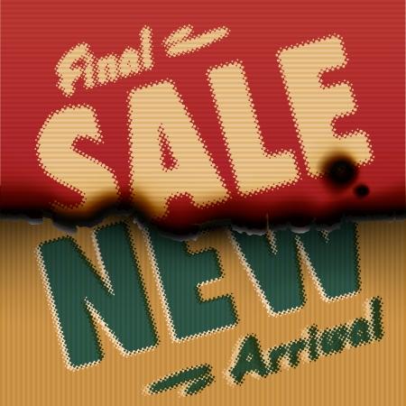 new arrival: Final Sale, New Arrival - vintage burned paper template