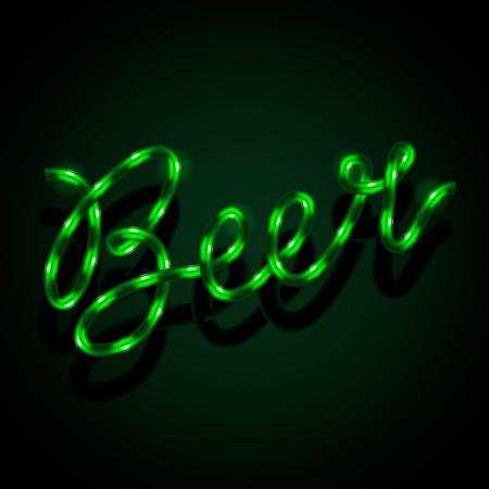 Glowing neon sign - Beer Stock Vector - 18245276