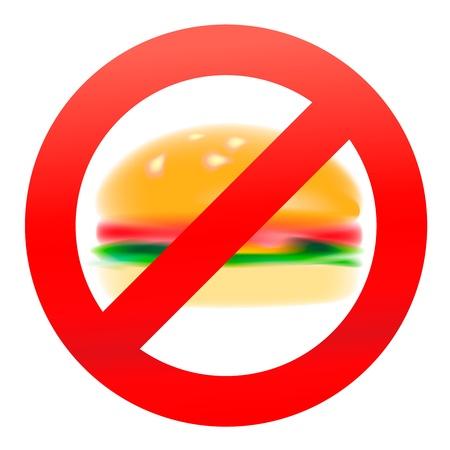 Unhealthy food, hamburger  Stock Vector - 18290928