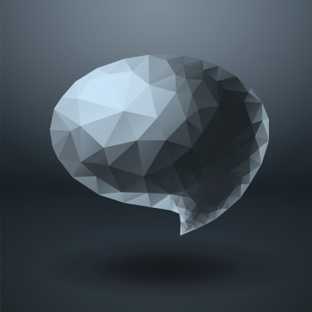 Crystal shapes speech bubble Vector