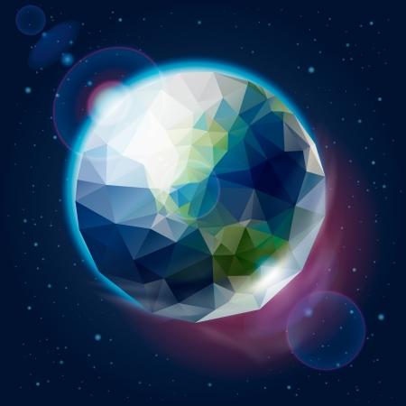 icosahedron: Earth globe as icosahedron