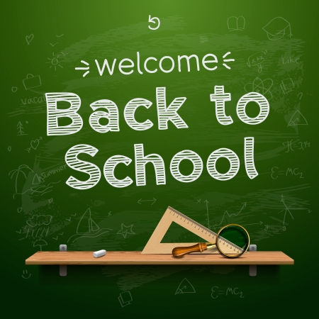 Back to school background illustration. Stock Vector - 18621953