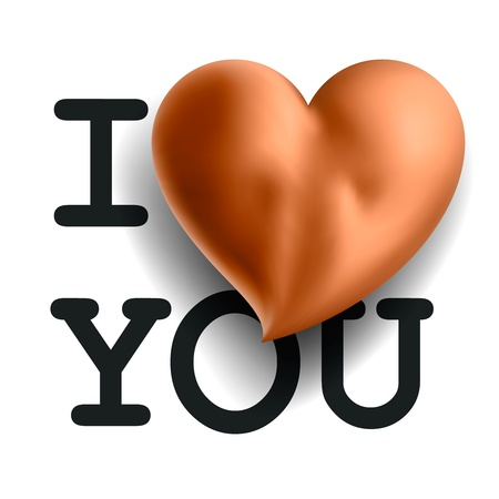 I love you, with buttocks in heart shape Stock Vector - 18687976