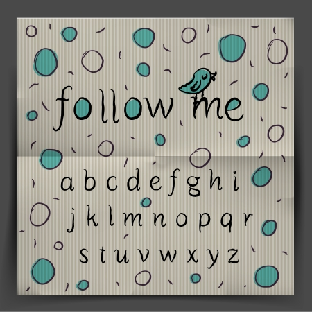 Handwriting Alphabet - Follow me  Vector