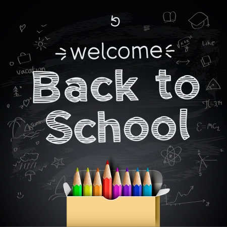 ni�os con l�pices: Volver a fondo de la escuela
