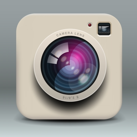 reflex: White photo camera icon