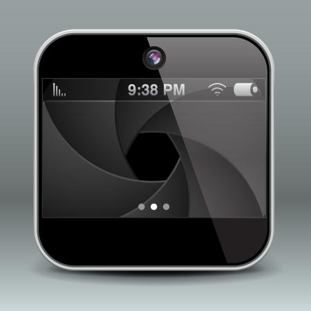 App design mobile phone camera icon