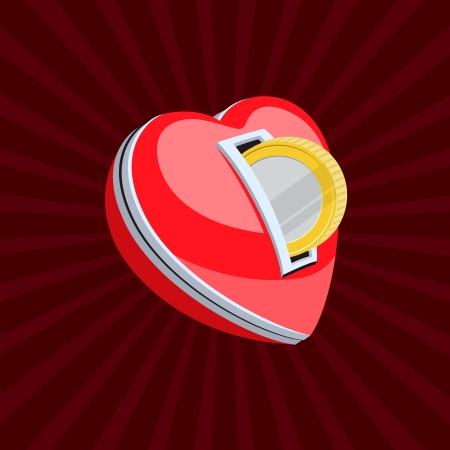 secret love: Love for money