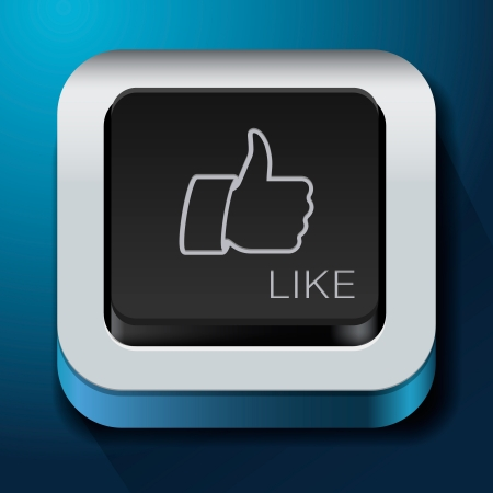 approval button: App design like icon - thumbs up button