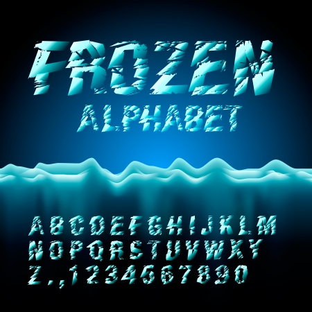 frozen water: Ice font collection