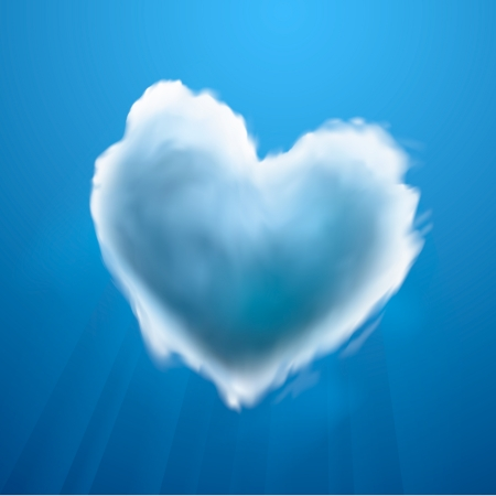 Cloud-shaped heart on a sky Stock Vector - 19751014