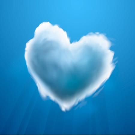Cloud-shaped heart on a sky Stock Vector - 19751014